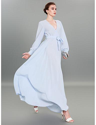 291dd5f06027 Γυναικεία Εκλεπτυσμένο Κομψό στυλ street Θήκη Τουνίκ Swing Φόρεμα -  Μονόχρωμο Μακρύ 6664226 2019 –  61.94