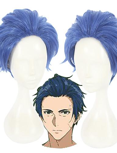 levne Cosplay paruky-Violet Evergarden Merlin Cosplay Paruky Unisex 12 inch Horkuvzdorné vlákno Modrá Anime