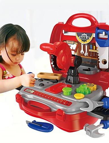 voordelige Speelgoedgereedschap-Speelgoedgereedschap Gereedschapskisten Creatief Ouder-kind interactie Kind  Peuter Speeltjes Geschenk 19 pcs