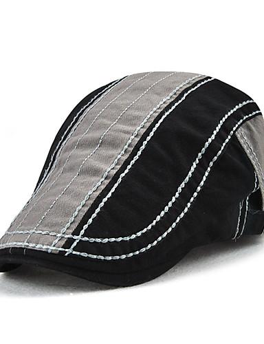 cheap Men's Hats-Men's Vintage Active Basic Cotton Beret Hat-Color Block Gray Wine Army Green