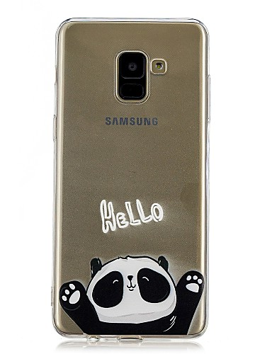 Etui Til Samsung Galaxy A5(2018) / Galaxy A7(2018) / A5 (2017) Gjennomsiktig / Mønster Bakdeksel Panda Myk TPU