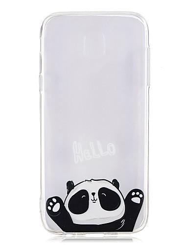 Etui Til Samsung Galaxy J7 (2017) / J5 (2017) / J3 (2017) Gjennomsiktig / Mønster Bakdeksel Panda Myk TPU