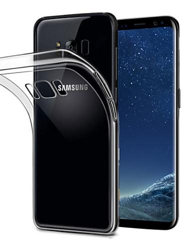 Etui Til Samsung Galaxy S8 Plus Gjennomsiktig Bakdeksel Ensfarget Myk TPU