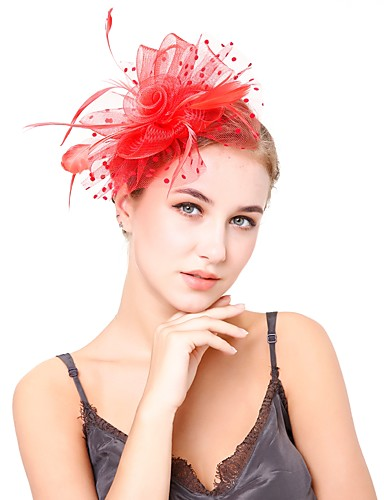cheap Women's Accessories-Women's Kentucky Derby Vintage Elegant Head Jewelry Hat Wedding Party - Solid Colored / All Seasons