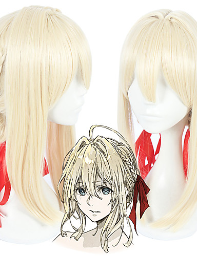 levne Cosplay paruky-Violet Evergarden Violet Evergarden Cosplay Paruky Vše 18 inch Horkuvzdorné vlákno Zlatá Anime