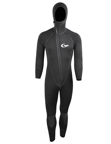 222dc4ad31 YON SUB Men s Full Wetsuit 5mm SCR Neoprene Diving Suit Anatomic Design Long  Sleeve Front Zip Knee Pads Solid Colored Autumn   Fall Winter   Stretchy ...