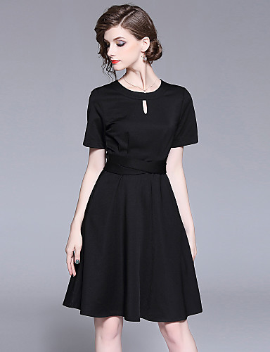 Womens Holiday Going Out Basic Street Chic A Line Little