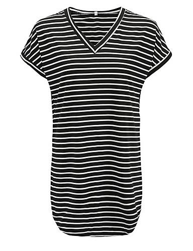 b8d0b22447 Women s Daily Slim Sheath Dress - Striped V Neck White Black Gray M L XL  6763374 2019 –  17.84