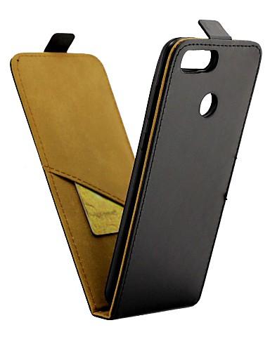 Etui Til Huawei Honor 7X Kortholder / Flipp Heldekkende etui Ensfarget Hard PU Leather