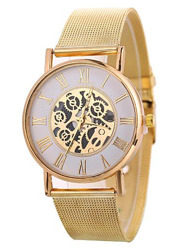 06a02c7d9b06 Xu™ Mujer Reloj de Vestir Reloj de Pulsera Relojes de Oro Cuarzo Negro    Plata   Dorado Creativo Reloj Casual Esfera Grande Analógico damas Moda  Esqueleto ...