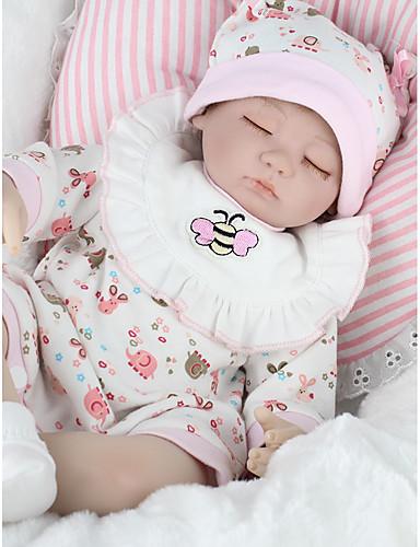 voordelige Uitverkoop-NPKCOLLECTION NPK POP Reborn-poppen Meisjespop Baby meisjes 18 inch(es) Siliconen - Pasgeboren levensecht Milieuvriendelijk Geschenk Handgemaakt Kindveilig voor kinderen Meisjes Speeltjes Geschenk