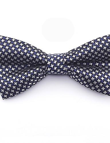 pas de taxe de vente prix bas meilleur prix [$3.99] Homme Basique Noeud Papillon - Noeud / Croisé, Bloc de Couleur /  Pied-de-poule / Mosaïque Bleu & blanc