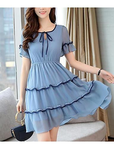 c748e0b9a650 Γυναικεία Εξόδου Λεπτό Πουκάμισο Φόρεμα Μίντι Ψηλή Μέση Βαθύ V 6732759 2019  –  25.19