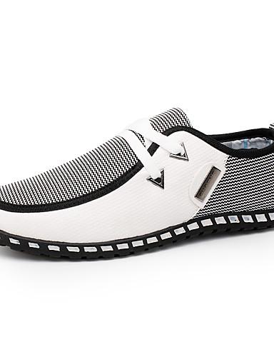 billige Oxford-sko til herrer-Herre Komfort Sko PU Vår / Høst Britisk Treningssko Gange Svart / Hvit / Grønn / Kombinasjon / utendørs / EU40