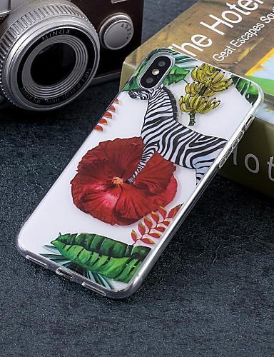 Etui Til Apple iPhone X / iPhone 8 Plus / iPhone 8 IMD / Mønster Bakdeksel Dyr Myk TPU