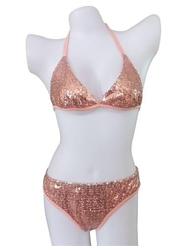 aacd345f6b9 [$16.99] Γυναικεία Δένει στο Λαιμό Ανθισμένο Ροζ Αντρικά σλιπ Tankini Μαγιό  - Μονόχρωμο ...