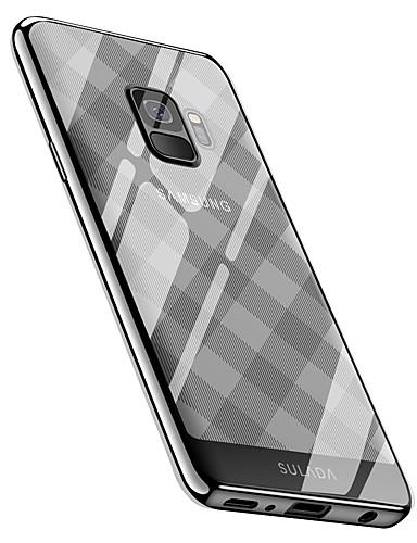 Etui Til Samsung Galaxy S9 / S9 Plus Belegg Bakdeksel Flise / Geometrisk mønster Myk TPU