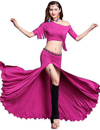 levne Shall We®-Břišní tanec Úbory Dámské Výkon Modal Rozdělení / Rozparek Poloviční rukáv Spuštený Sukně / Vrchní deska