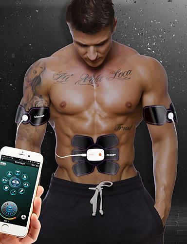 povoljno Vježbanje, fitness i joga-Abs stimulator Abdominalni Toning Belt EMS Abs Trainer APP kontrola Bluetooth Smart Može se puniti Elektronički Bežično EMS trening Toniranje mišića ABS trener Fitness Trening u teretani Za Muškarci