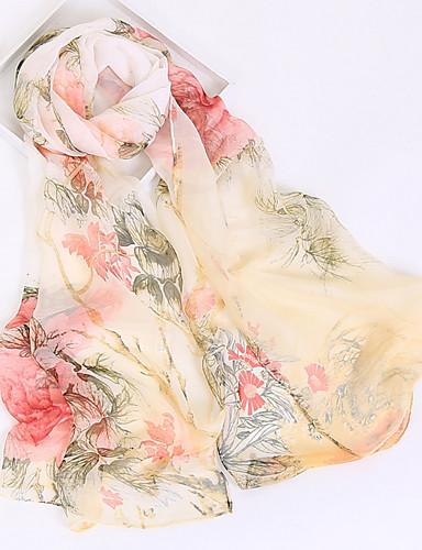 preiswerte Packe für den Strand ein-Damen Kunstseide / Polyester Rechteckiger Schal - Gitter Blumen / Ganzjährig