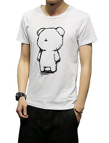 b1937c64b007 Ανδρικά T-shirt Μονόχρωμο Στρογγυλή Λαιμόκοψη   Κοντομάνικο 6743084 2019 –   12.99