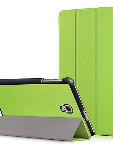 Etui Til Samsung Galaxy Tab A 8.0 (2017) med stativ / Flipp Heldekkende etui Ensfarget Hard PU Leather