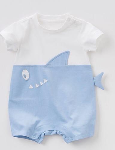 preiswerte Mode für Jungs-Baby Jungen Aktiv / Grundlegend Alltag Patchwork Patchwork Kurze Ärmel Baumwolle Einzelteil Rosa