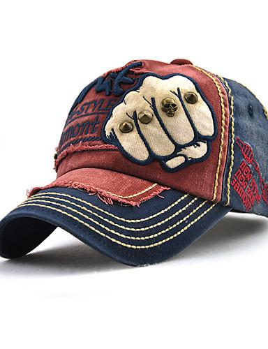 preiswerte Herrenhüte-Unisex Grundlegend,Denim Baseball Kappe Einfarbig Ganzjährig Rote Marineblau Leicht Braun