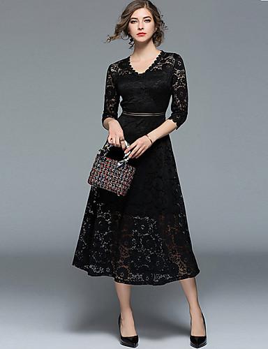 b5918f417708 Γυναικεία Βίντατζ   Εκλεπτυσμένο Swing Φόρεμα - Μονόχρωμο   Γεωμετρικό