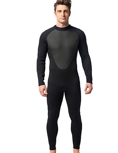 povoljno ljetni popust-MYLEDI Muškarci 3mm Neopren Ronilačka odijela Ugrijati Vodootporno Dugih rukava Povratak Zipper - Plivanje Ronjenje Klasika Proljeće Ljeto Jesen / Zima