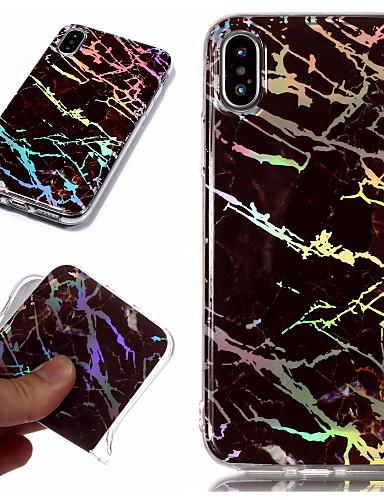 Etui Til Apple iPhone X / iPhone 8 Plus / iPhone 8 Belegg / IMD / Mønster Bakdeksel Marmor Myk TPU