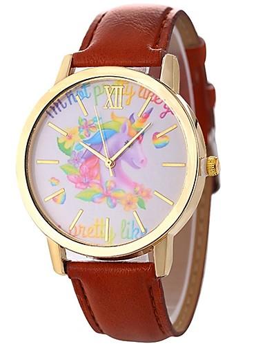 f7e4f0759a8f Xu™ Mujer Reloj de Vestir Reloj de Pulsera Cuarzo Cuero Sintético Acolchado  Negro   Blanco   Azul Creativo Reloj Casual Esfera Grande Analógico damas  ...