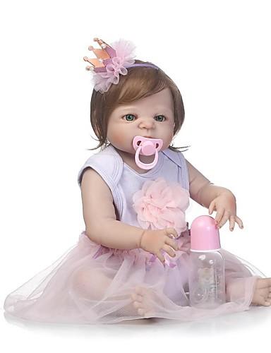 preiswerte Spielzeug & Hobby Artikel-NPKCOLLECTION NPK-PUPPE Lebensechte Puppe Mädchen Puppe Baby Mädchen 24 Zoll Ganzkörper Silikon Silikon Vinyl - lebensecht Handgefertigt Kindersicherung Non Toxic Gekippte und versiegelte Nägel