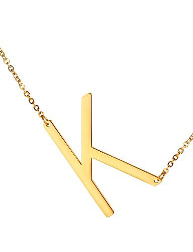 temperament skor topp design ankommer Herr Hänge Halsband namn Alphabet Form Mode Rostfritt stål Guld ...