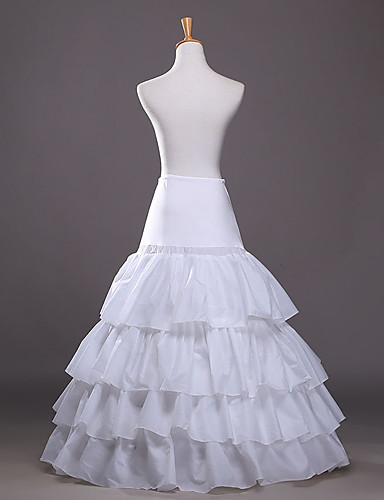 cheap Wedding Slips-Wedding / Event / Party Slips POLY Gown Length Shaping Slips / Long with Cascading Ruffles