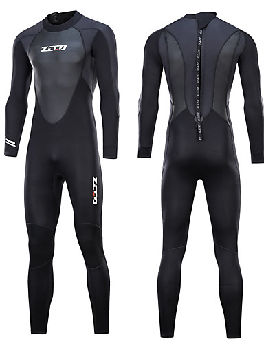 cheap Wetsuits, Diving Suits & Rash Guard Shirts-ZCCO Men's Full Wetsuit 3mm Nylon SCR Neoprene Diving Suit Thermal / Warm Quick Dry Anatomic Design Long Sleeve Back Zip - Swimming Diving Water Sports Spring &  Fall Summer / Stretchy / Stretchy