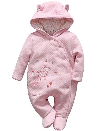preiswerte Kinder Mode Kollektion Ausverkauf-Baby Mädchen Aktiv Solide Langarm Einzelteil Rosa
