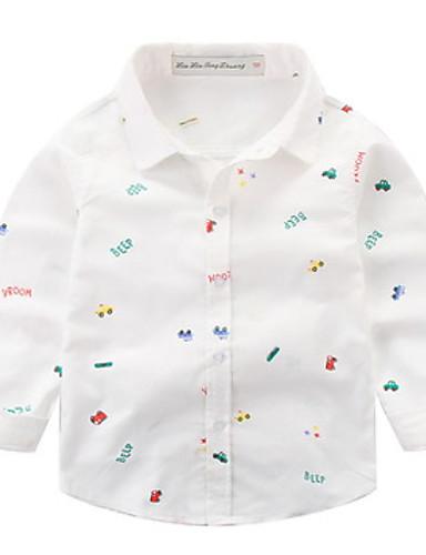 Μωρό Αγορίστικα Βασικό Μονόχρωμο Μακρυμάνικο Πολυεστέρας Πουκάμισο Λευκό    Νήπιο 6824360 2019 –  7.97 42d8fca5461