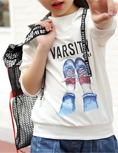preiswerte Zurück in die Schule-Kinder Mädchen Grundlegend Solide Langarm Bluse Weiß