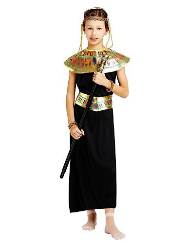 povoljno Maske i kostimi-faraon Kostim Djevojčice Boy Halloween Halloween Karneval Dječji dan Festival / Praznik Polyster odjeća Crn Jednobojni Halloween