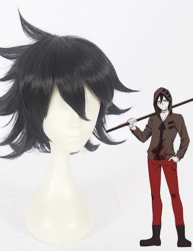 levne Cosplay paruky-Andělé smrti Zack cosplay Cosplay Paruky Vše 12 inch Horkuvzdorné vlákno Černá Anime