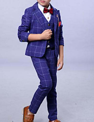 Djeca Dječaci Osnovni Jednobojni Dugih rukava Komplet odjeće Plava