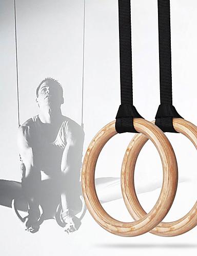 hesapli yaz indirimi-Jimnastik Halkası Kum Torbası Kam Toka Askıları Spor Dalları Tahta Ev egzersiz Spor Fitness Ayarlanabilir Olimpiyat Dikiş İpi Vücut Kas Ağırlığı Eğitimi Crossfit Barfiks Çekme İçin