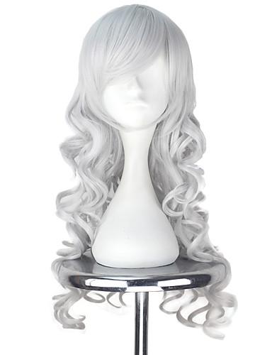 povoljno Maske i kostimi-Vocaloid Megurine Luka Cosplay Wigs Sve 30 inch Otporna na toplinu vlakna Pink Anime