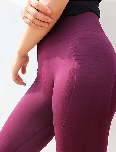 povoljno Odjeća za fitness, trčanje i jogu-Žene Visoki struk Hlače za jogu Jedna barva Zumba Trening u teretani Donji Odjeća za rekreaciju Kompresija Butt Lift Rastezljivo