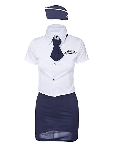 76bc9e87d01 Women s Sexy Uniforms   Cheongsams   Suits Nightwear - Lace   Cut Out Color  Block   Patchwork   V Neck 6838843 2019 –  7.31