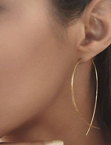 preiswerte Shixin®-Damen Ohrstecker Billig damas Einfach Europäisch Simple Style Modisch Elegant Ohrringe Schmuck Schwarz / Silber / Golden Für Party Alltag Normal
