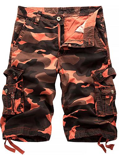 voordelige Uitverkoop-Heren Actief / Standaard / Militair Strand Shorts / Ladingbroek Broek - camouflage Paars blauw Rood 29 30 31
