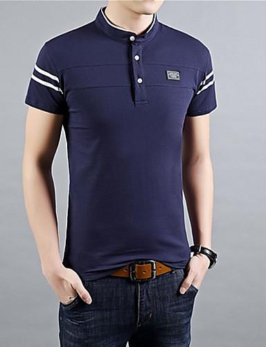 preiswerte Ausverkauf-Herrn Solide T-shirt Schwarz / Kurzarm