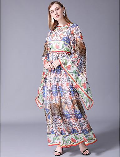 e140e637825 Γυναικεία Βασικό Μετάξι Swing Φόρεμα - Καρό Μακρύ 6799355 2019 – $101.99